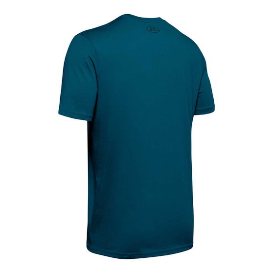 Under Armour Mens Sportstyle Left Chest Tee Teal S, Teal, rebel_hi-res