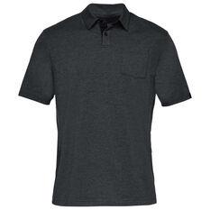 e24a00332dcf Under Armour Mens Charged Cotton Scramble Polo Shirt Black / Grey S, Black  / Grey
