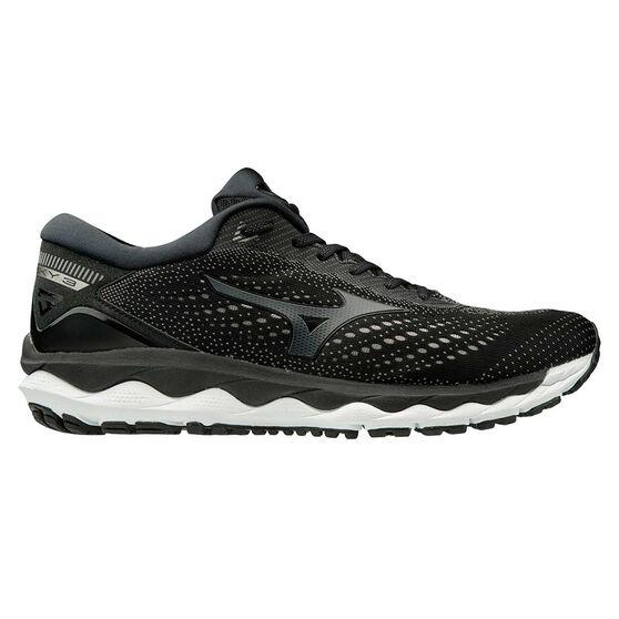 Mizuno Wave Sky 3 2E Mens Running Shoes, Black / White, rebel_hi-res