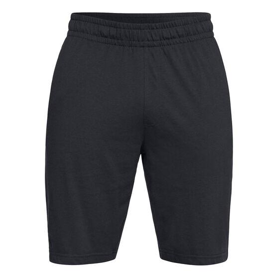 Under Armour Mens Rival Jersey Sportswear Shorts, Black, rebel_hi-res