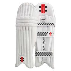 Gray Nicolls Platinum Cricket Batting Pads White / Silver Left Hand, White / Silver, rebel_hi-res