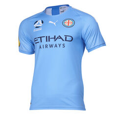 Melbourne City FC 2019/2020 Kids Home Jersey Blue 8, Blue, rebel_hi-res
