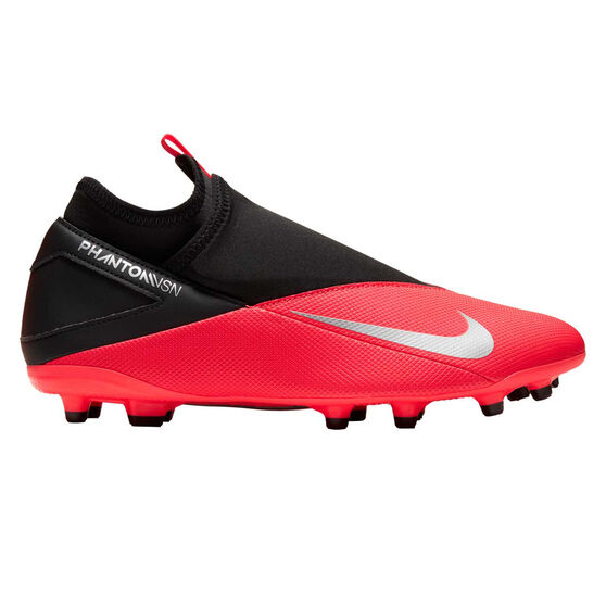 Nike Phantom Vision II Club Football Boots, Black / Red, rebel_hi-res