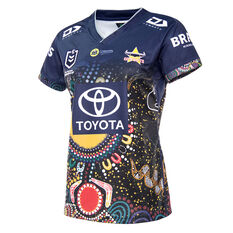 North Queensland Cowboys 2021 Womens Indigenous Jersey Navy 6, Navy, rebel_hi-res