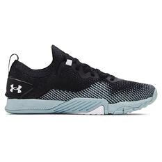 Under Armour Tribase Reign 3 Mens Training Shoes Black/Blue US 7, Black/Blue, rebel_hi-res