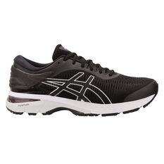 Asics Gel Kayano 25 Mens Running Shoes Black / White US 7, Black / White, rebel_hi-res