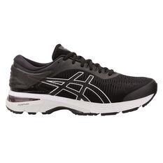 Asics Gel Kayano 25 Mens Running Shoes Black / White US 7, Black / White, rebel_hi-res
