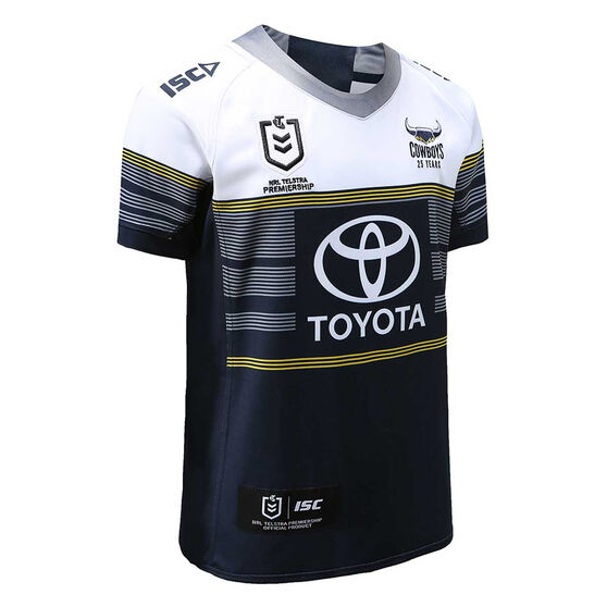 North Queensland Cowboys 2020 Kids Away Jersey, Navy / White, rebel_hi-res