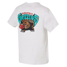 Memphis Grizzlies Mens Retro Repeat Tee White S, White, rebel_hi-res