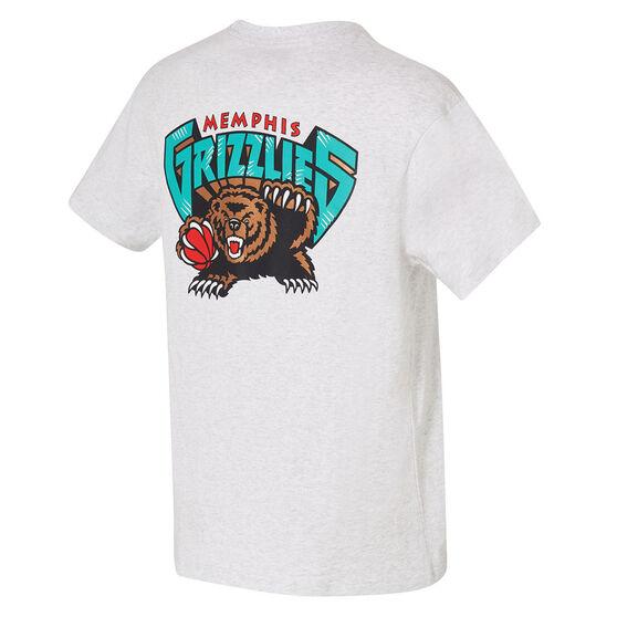 Memphis Grizzlies Mens Retro Repeat Tee, White, rebel_hi-res