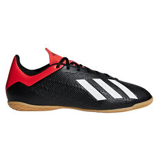 adidas X Tango 18.4 Mens Indoor Soccer Shoes Black / White US 7, Black / White, rebel_hi-res