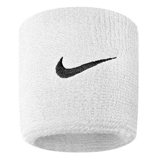 Nike Swoosh Wristband White / Black OSFA, White / Black, rebel_hi-res