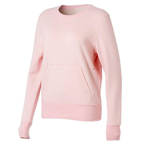 Ell & Voo Womens Harper Fleece Crew Sweatshirt, Pink, rebel_hi-res