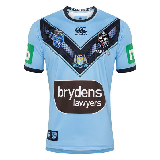 NSW Blues State of Origin 2020 Mens Home Jersey, Blue, rebel_hi-res