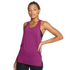 Nike Womens Yoga Tank Pink S, Pink, rebel_hi-res