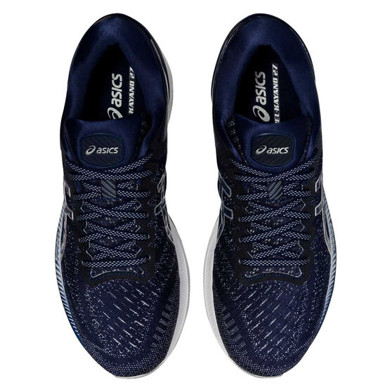 Asics GEL Kayano 27 Mens Running Shoes, Blue/Grey, rebel_hi-res