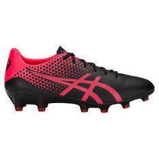 Asics Menace Mens Football Boots Black / Pink US Mens 7 / Womens 8.5, Black / Pink, rebel_hi-res