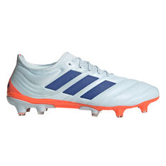adidas Copa 20.1 Football Boots White/Blue US Mens 7.5 / Womens 8.5, White/Blue, rebel_hi-res
