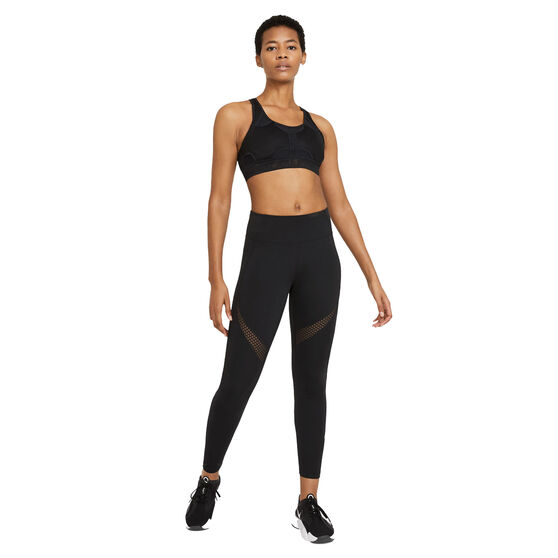 Nike Womens Swoosh UltraBreathe Medium Support Sports Bra, Black, rebel_hi-res