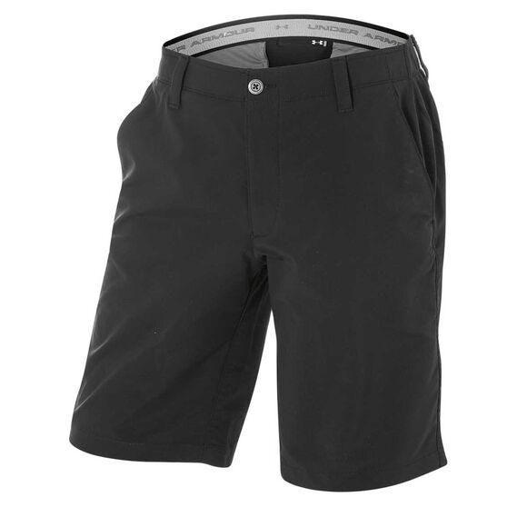 Under Armour Mens Matchplay Shorts Black / Grey S, Black / Grey, rebel_hi-res