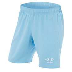 Umbro Kids Junior League Knit Shorts Sky Blue 6, Sky Blue, rebel_hi-res