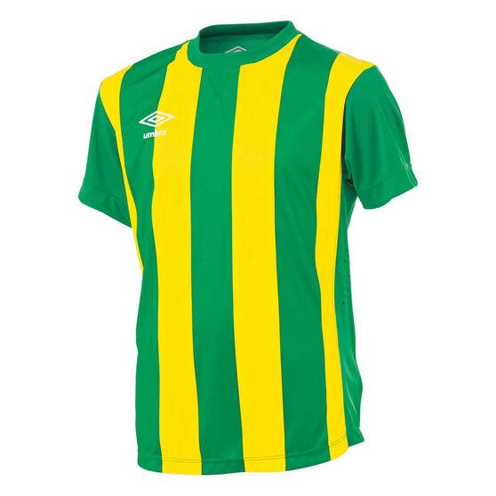 Umbro Kids Striped Jersey, Green / Gold, rebel_hi-res