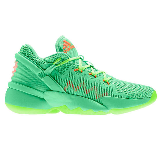 adidas D.O.N. Issue #2 Mens Basketball Shoes, Green/Red, rebel_hi-res