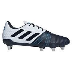 adidas Kakari Elite SG Rugby Boots Blue / Grey US Mens 7 / Womens 8, Blue / Grey, rebel_hi-res