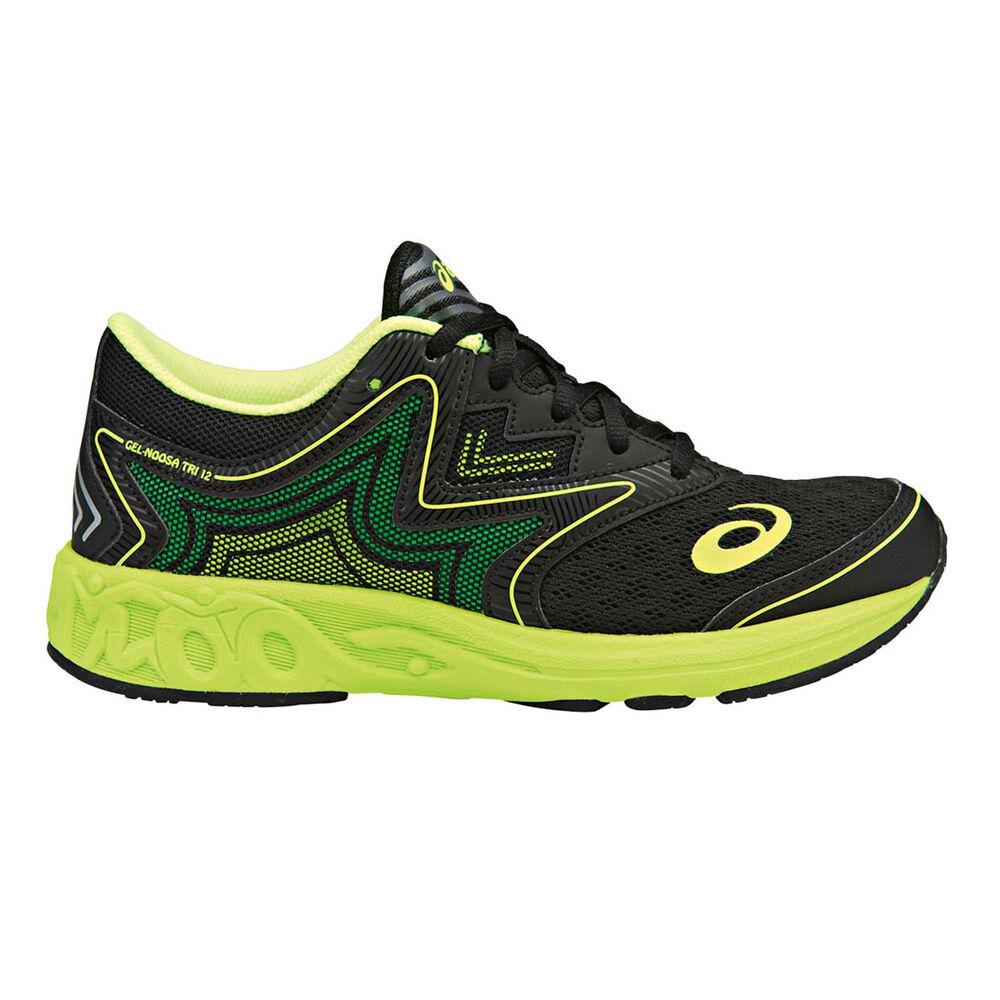 502b8a8c8a57 Asics GEL Noosa Boys Running Shoes Black   Yellow US 1