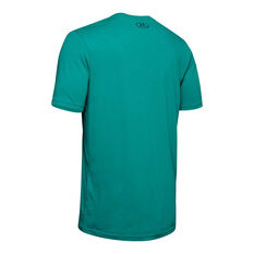 Under Armour Mens Sportstyle Logo Tee Teal S, Teal, rebel_hi-res