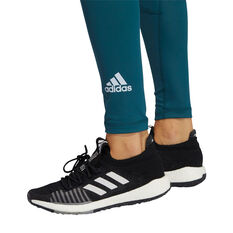 adidas Womens TechFit Long Tights, Blue, rebel_hi-res