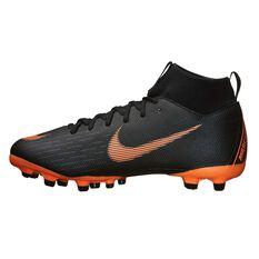 Nike Mercurial Superfly 6 Academy MG Kids Football Boots Black / Orange US 1 Junior, Black / Orange, rebel_hi-res