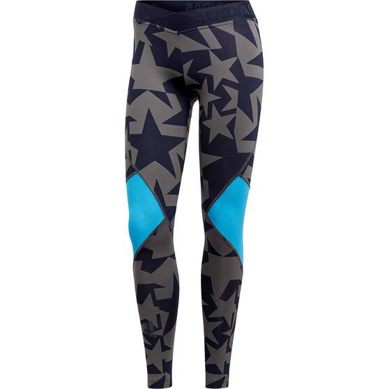 adidas Womens Alphaskin Iteration Sport Long Tights, Navy, rebel_hi-res