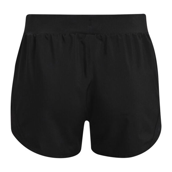 Under Armour Girls Fly By Shorts, Black, rebel_hi-res