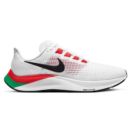 Nike Air Zoom Pegasus 37 Eliud Kipchoge Mens Running Shoes, White/Black, rebel_hi-res