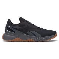 Reebok Nanoflex Mens Training Shoes Black/Gum US 7, Black/Gum, rebel_hi-res