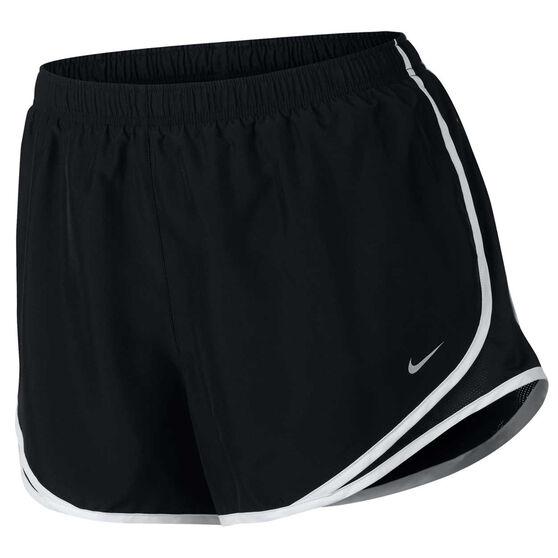 Nike Womens Tempo Running Shorts Plus, Black / White, rebel_hi-res