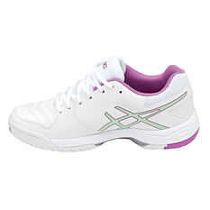 Asics Gel Game Womens Netball Shoes White / Green US 6, White / Green, rebel_hi-res