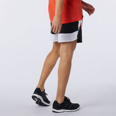 New Balance Mens Printed Impact Run 5in Shorts Black S, Black, rebel_hi-res