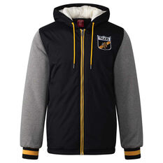 Richmond Tigers Mens Sideline Jacket Yellow S, Yellow, rebel_hi-res