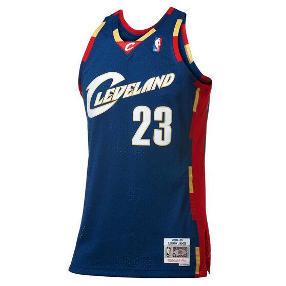 Mitchell & Ness Cleveland Cavaliers LeBron James 2008 / 09 Swingman Basketball Jersey, , rebel_hi-res