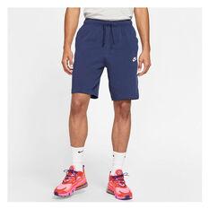 Nike Mens Sportswear Club Jersey Shorts, Navy, rebel_hi-res