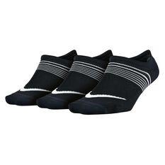 Nike Womens Performance Lightweight Training 3 Pack Socks Black / Multi S, Black / Multi, rebel_hi-res