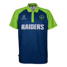 Canberra Raiders 2021 Mens Polo, Blue, rebel_hi-res