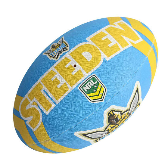 Steeden NRL Gold Coast Titans Rugby League Ball, , rebel_hi-res