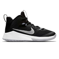 the best attitude 8f1c0 53ab9 Nike Future Court Kids Basketball Shoes Black   White US 1, Black   White,  ...