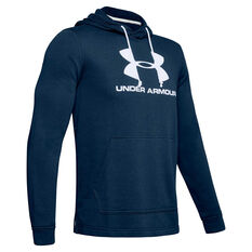 Under Armour Mens Sportstyle Terry Logo Hoodie Navy XS, Navy, rebel_hi-res