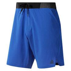 Reebok Mens Ost Epic Knit Waistband Training Shorts Blue S, Blue, rebel_hi-res