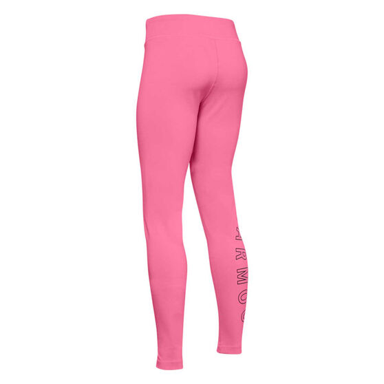 Under Armour Girls Favourite Leggings, Pink / Black, rebel_hi-res