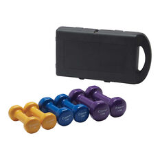 Celsius 10kg Dipped Dumbell Set, , rebel_hi-res
